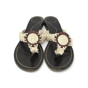Kate Spade New York Canvas Leather Sandals 10